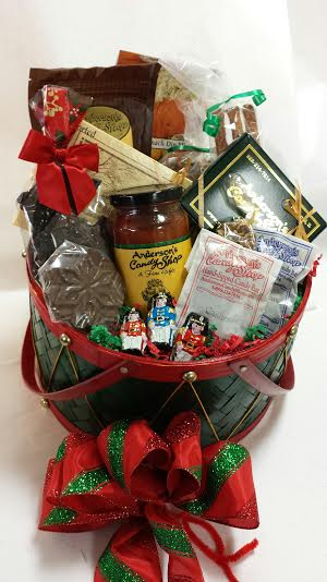 our large christmas basket is overflowing with the unbeatable taste of andersons and is fit for the whole office or family