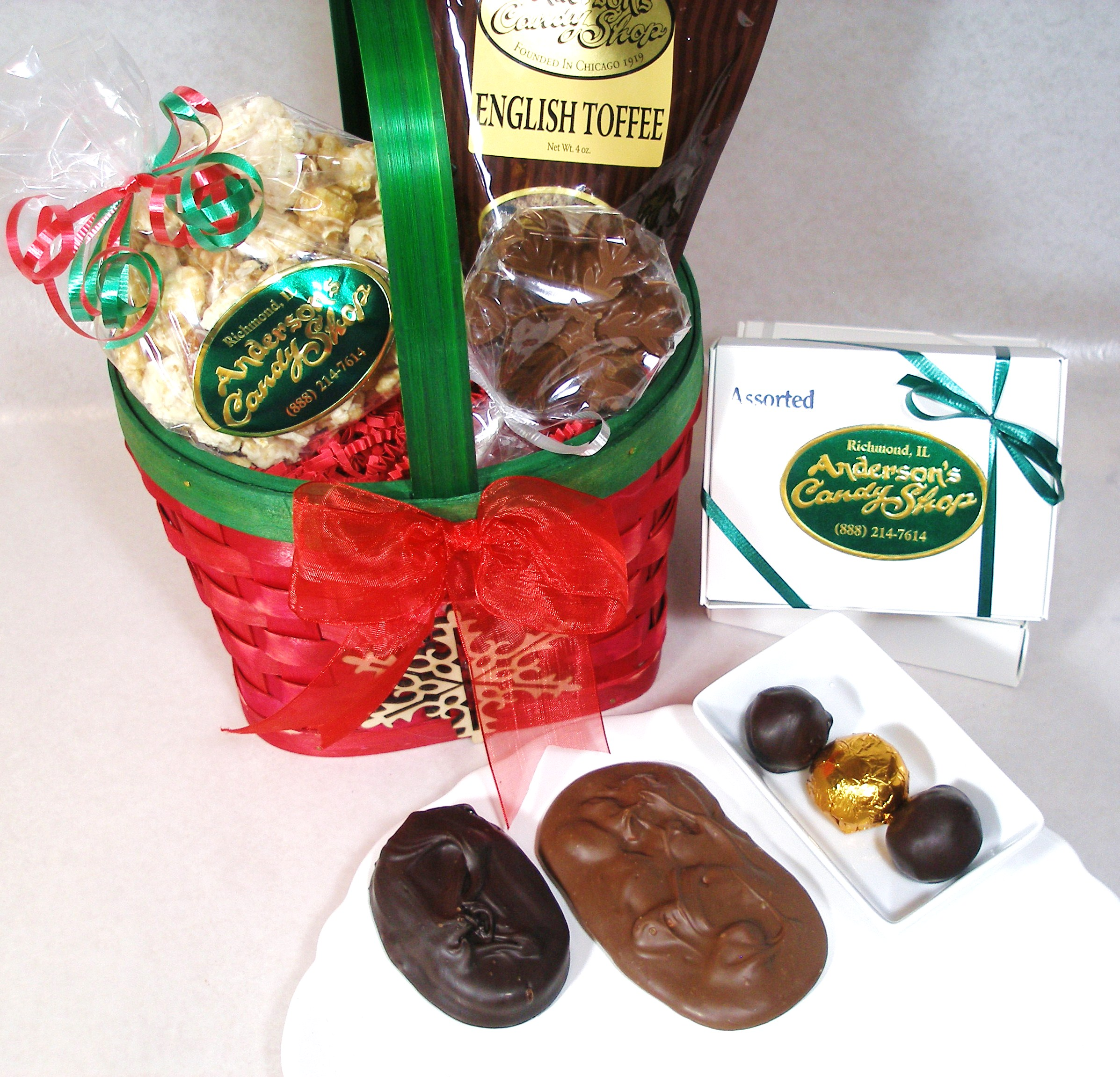 Christmas Gift Packages.Christmas Gift Basket Small Anderson S Candy Shop