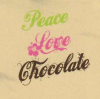 Peace, Love, Chocolate - shirt